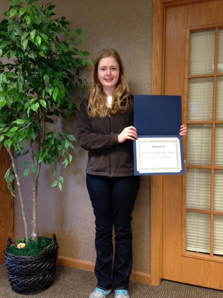 Scholarship winner K Sheridan